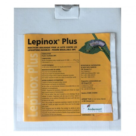Lepinox Plus - Insecticides Biocontrôle - Andermatt France