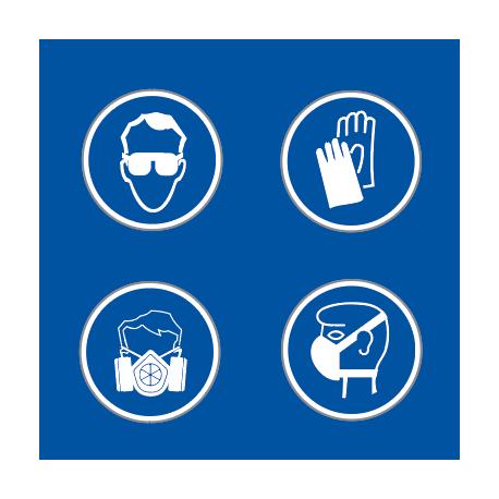 KIT COMPLET EPI (Lunette, 1 paire de gants, 1 masque A2P3, 1 masque EN149)
