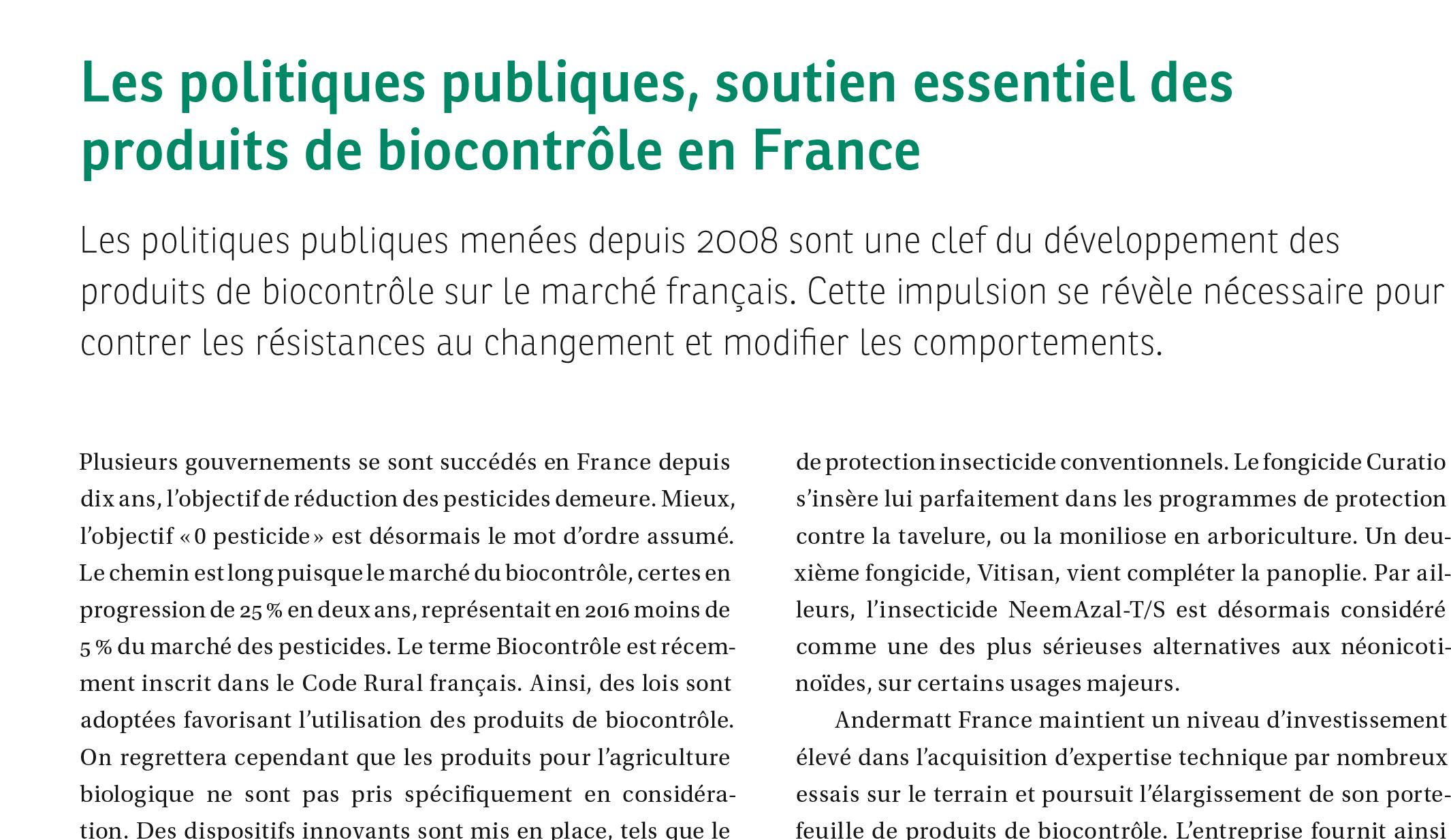 Biocontrôle Andermatt France