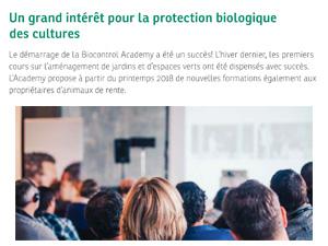Biocontrôle Academy Andermatt France